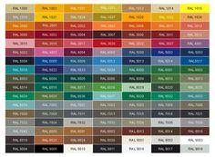 Drzwi dostępne w kolorach z palety RAL lub NCS.