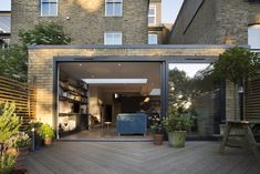 We have constructed a large wraparound extension to the lower ground floor of this Victorian terrace property in South East London. It has been designed to create a large kitchen . Wraparound Extension, Rear Extension, Extension Plans, Victorian Terrace, Victorian Homes, Crittal Doors, London Living Room, Kitchen Diner Extension, Glass Extension