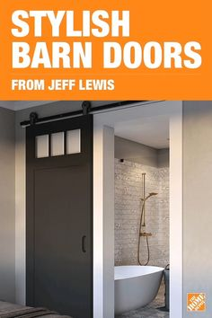 Add a touch of rustic sophistication to your home with a Jeff Lewis barn door kits by Masonite. Whether you like clean lines or on-trend designs like herringbone, you're sure to find a barn door to seamlessly fit your home's style. Click to explore the collection and find the perfect space-saving barn door for you.