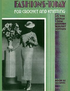 The Spool Cotton Company Vintage eBooks Crochet Clothes, Crochet Dresses, Crochet Tops, Vintage Knitting, Vintage Crochet, Knitting Patterns, Crochet Patterns, Ladies Dresses, Knit Fashion