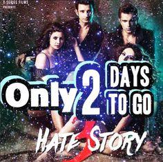 Only 2 days to go for #HateStory3 #ZareenKhan #KaranSinghGrover #ShermanJoshi #DaisyShah