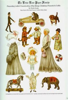 Lettie Lane Paper Family | Gabi's Paper Dolls* For lots of free paper dolls International Paper Doll Society #ArielleGabriel #ArtrA thanks to Pinterest paper doll collectors for sharing *