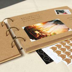 A4 ring binder Kraft Photo Album / baby album / Kraft Scrapbook Album / Wedding scrapbook Album / Wedding Guest Book /PA007