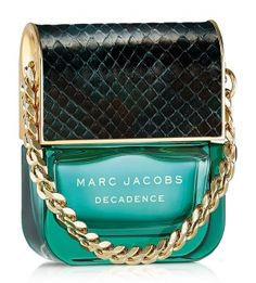 "Marc Jacobs presents Decadence, his first ""mature"" fragrance in 2015. The rich and elegant composition was created in collaboration with perfumer Annie Buzantian. The top notes include Italian plum, saffron and iris. Bulgarian rose, Sambac jasmine and orris root form the heart of the perfume, while the base includes warm liquid amber, vetiver and papyrus wood."
