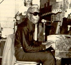 """""""Professor Longhair"""" (1918 - 1980) New Orleans R and blues singer and piano player, """"Mardi Gras in New Orleans"""", real name: Henry Byrd"""