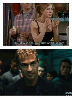 This is perfect for my bff Divergent Theo James, Divergent Four, Divergent Trilogy, Divergent Insurgent Allegiant, Divergent Memes, Divergent Hunger Games, Divergent Fandom, Tris Und Four, Nerd