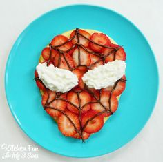 Spider Man Pancakes for Breakfast from KitchenFunWithMy3Sons.com