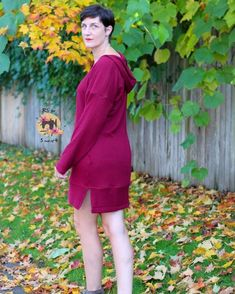 @5outof4patterns posted to Instagram: How great is this Sandra Dress?! It's the perfect transition into fall! The Sandra Tunic and Dress pattern is a great pattern with lots of options! There are 5 necklines, 4 sleeve options, and an optional split hem! The Sandra is a relaxed fit dolman style, so it's made for comfort! #5outof4patterns #pdfsewingpatterns #5oo4 #pdf #isew #sewcialists #handmadewardrobe #sewing #sew #sewingproject #fabric #sewforkids #sewforboys #sewforgirls #handmadeclothing #i Fall Sewing, Pdf Sewing Patterns, Handmade Clothes, Sewing Projects, High Neck Dress, Tunic, Neckline, Pullover, Fit