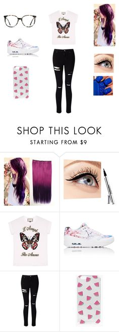 """""""Mall"""" by jasmin198 ❤ liked on Polyvore featuring Luminess Air, Gucci, NIKE, Miss Selfridge, Boohoo and Ace"""