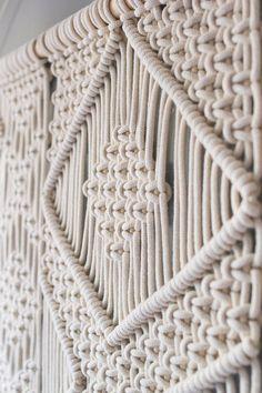Large macrame wall hanging on pinewood dowel / Wedding