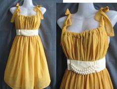 #yellow #bridesmaid #dress