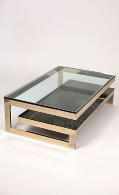 Muebles View this item and discover similar coffee and cocktail tables for sale at - Guy Lefevre coffe table. Coffee Table Design, Coffe Table, Contemporary Coffee Table, Modern Coffee Tables, Contemporary Decor, Contemporary Cottage, Cool Coffee Tables, Tea Tables, Contemporary Stairs