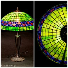 Wieniawa Piasecki lamp, inspired by L.C. Tiffany Banded Dogwood Lamp #tiffany #lamp www.e-witraze.pl #manmade #stainedglass #handcrafted #unique #metalware #louis #comfort #glass #flower #flowers #banded #dogwood #leaf #wine #tablelamp www.e-witraze.pl #poland #design #art #light