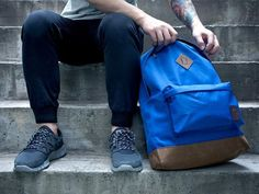Navy Explorer Backpack by Stussy