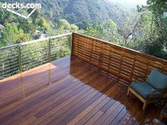 High Elevation Deck Picture Gallery-railing and privacy wall idea