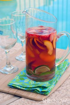 Fruity pink moscato wine chillers