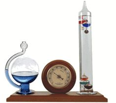 Ambient Weather - Galileo Thermometer, Hygrometer and Glass Fluid Barometer