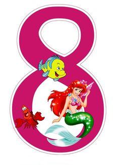 Little Mermaid Birthday, Little Mermaid Parties, Ariel Mermaid, Ariel The Little Mermaid, Party Layout, Disney Alphabet, Happy Birthday Wallpaper, Mermaid Under The Sea, Disney Printables