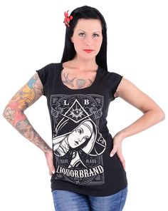 Liquor Brand T-Shirt Nun. Tattoo, Pin up, Oldschool, Rockabilly, Custom Styles