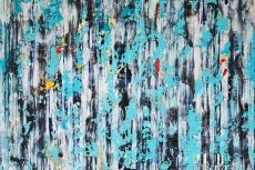 Clara Berta Symphonic Afternoon abstract art mixed media painting from her Visions of Color Series