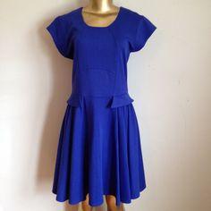 Beautiful blue dress Beautiful blue dress with gold zipper back Evolution Dresses