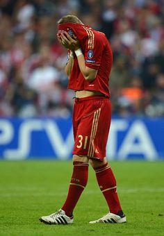 Basti schweinsteiger. This made me cry. Cl 2012 finals