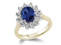 Princess Diamond Blue Sapphire Engagement Ring, Engagement Rings Dublin - Find the Perfect Engagement Ring