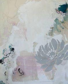 "Saatchi Art Artist melissa herrington; Painting, ""When all their days were deep in lilies. Silken petals climbed overreaching rooftops. Turquoise seashells cut polished catkins."" #art"