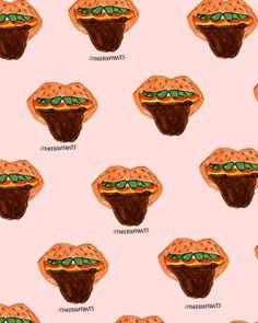 Burger Lips.