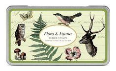 Cavallini & Co. Holz-Gummistempel-Set Flora und Fauna in der Dose inkl. Stempelkissen sortiert schwarz: Amazon.de: Bürobedarf & Schreibwaren