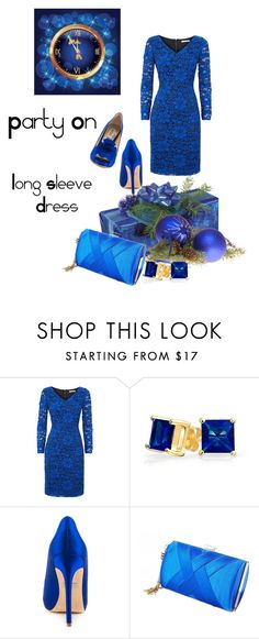 """""""Party on: Long Sleeve Dress"""" by rosidew ❤ liked on Polyvore featuring Fenn Wright Manson, Bling Jewelry and Badgley Mischka"""