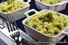 Bora preparar para o #jantar um fácil e delicioso Risoto de Arroz Integral e Legumes, sem dúvida agradará muitíssimo a todos.  #Receita aqui: http://www.gulosoesaudavel.com.br/2013/03/18/risoto-arroz-integral-legumes/