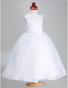 Ball+Gown+Ankle-length+Flower+Girl+Dress+-+Satin/Organza+Sle...+–+GBP+£+45.49