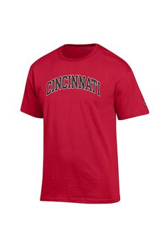 58ba9928 Champion Cincinnati Bearcats Red Rally Loud Short Sleeve T Shirt, Red, 100%  COTTON, Size 3XL
