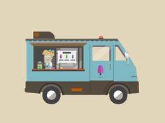 Popsicle truck | gif by Spencer Okada (Brooklyn, NY)
