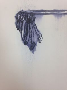 A close up drawing of a dead flower, using less hairspray this time.