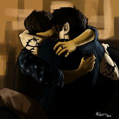 Drawn by noksindra ...     alexander 'alec' lightwood, malec, magnus bane, the mortal instruments, shadowhunters