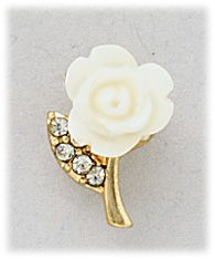 Simply Whispers hypoallergenic and nickel free Jewelry Pierced Earrings Posted Gold Cream colored Rose