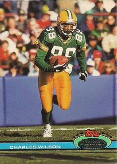 WR/KR Charles Wilson -- Green Bay Packers // 1991 Stadium Club