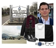 """""""Alexander travels from RAF Brize Norton in Oxfordshire to RAF Ascension Island"""" by immortal-longings ❤ liked on Polyvore featuring Vivienne Westwood Red Label, Dolce&Gabbana, Scotch & Soda, Gieves & Hawkes, Burberry, Ray-Ban and John Lobb"""