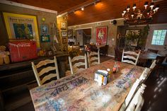 The decor gives Yellow Dog Eats a decidedly lighthearted feel. Image: Yellow Dog Eats