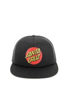Santa Cruz Classic Dot Trucker Hat Black black e2ecf39b46ef