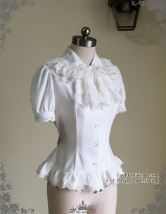 fanplusfriend - Classic Lolita Short Sleeves Blouse&Embroidery Frilly Jabot*2colors (http://www.fanplusfriend.com/classic-lolita-short-sleeves-blouse-embroidery-frilly-jabot-2colors/)