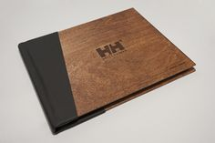 The most beautiful financial report by Shelby White. I love the wood cover and asymmetrical binding.