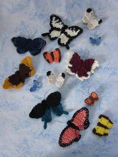"""mirigurumi: """"Crochet Butterflies - Free Pattern by Beth. """""""