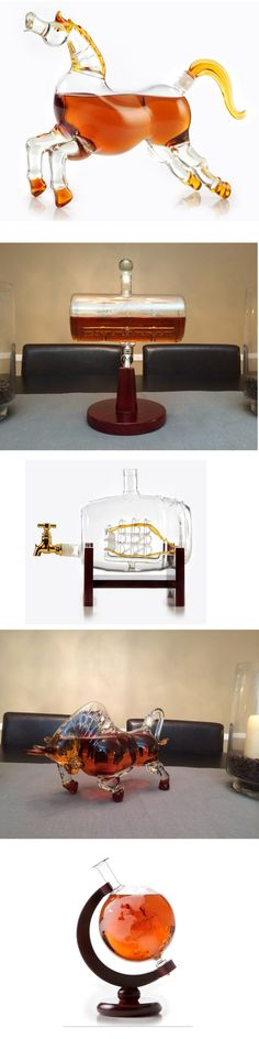 Beautiful  liquor decanters for serving your drinks, or as home decor, or gifts for your loved ones. Just perfect!