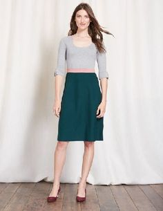 Boden Juliette Knitted Dress Grey Melange/Emerald Weve added a colourblock design to this fit-and-flare dress to help it do what it does best -flatter your waistline. And with pleating at the cuff, a pretty waistband and a knee-length cut, itll flat http://www.MightGet.com/january-2017-13/boden-juliette-knitted-dress-grey-melange-emerald.asp