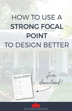 Pig + Tiger | Use a strong focal point for better home design
