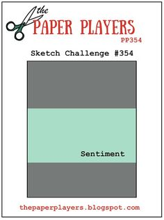The Paper Players: PP354 - A Sketch Challenge from Jaydee