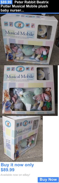 Baby Nursery: Peter Rabbit Beatrix Potter Musical Mobile Plush Baby Nursery Crib Windup Nib BUY IT NOW ONLY: $89.99
